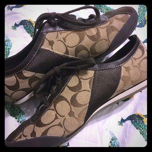 COACH tennis shoes EUC size 8.5